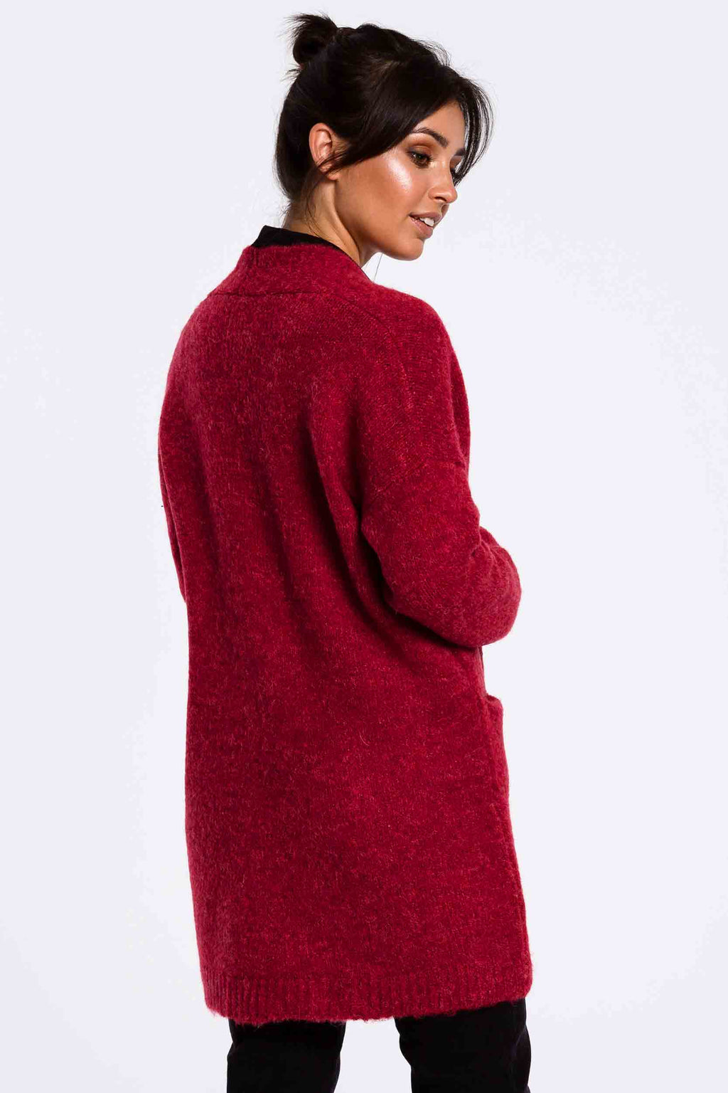 Raspberry Fuzzy Cardigan With Pockets - So Chic Boutique