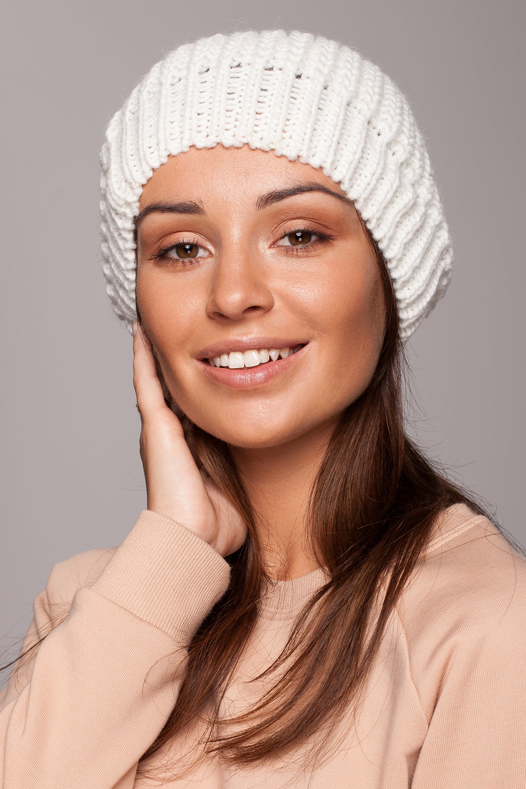 Ecru Knit Beret - So Chic Boutique