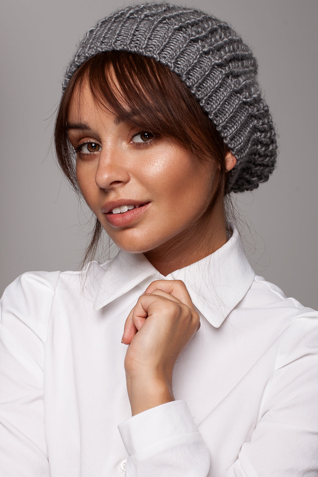 Graphite Knit Beret - So Chic Boutique