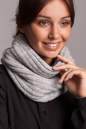 Grey Knit Snood - So Chic Boutique