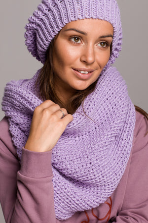 Lilac Knit Beret - So Chic Boutique