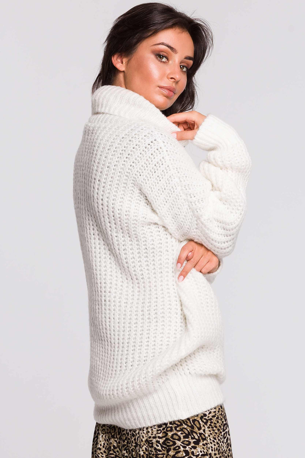 White Turtleneck Sweater Dress - So Chic Boutique