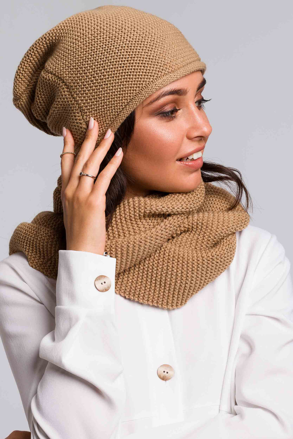 Beige Circle Scarf - So Chic Boutique