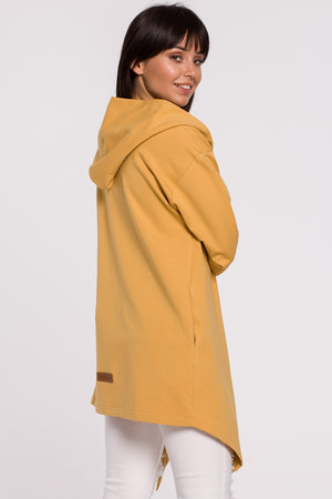 Yellow Cotton Jacket With A Hood - So Chic Boutique