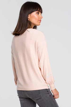 Apricot Bell Sleeve Lightweight Pullover - So Chic Boutique