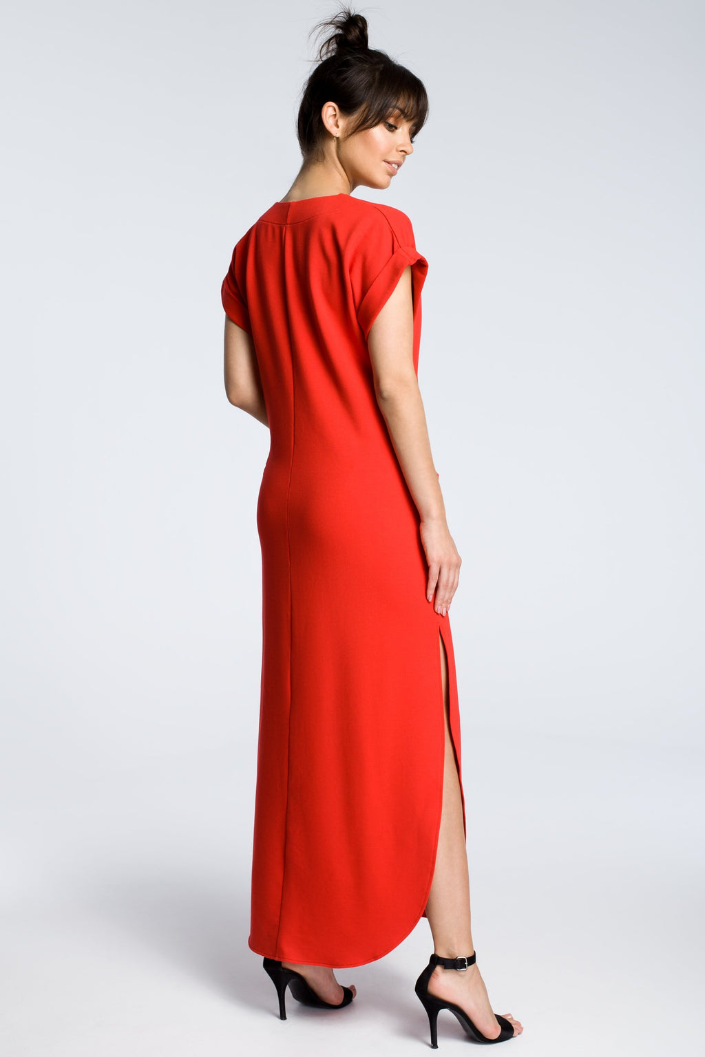 Red Maxi Dress With Side Slits