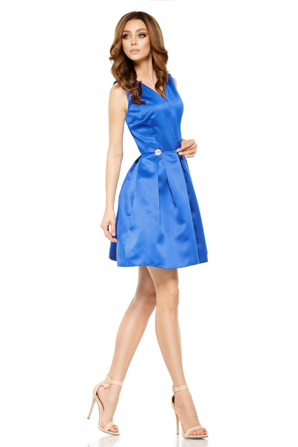 Mini Blue Wide Bottom Dress (1377701953610)