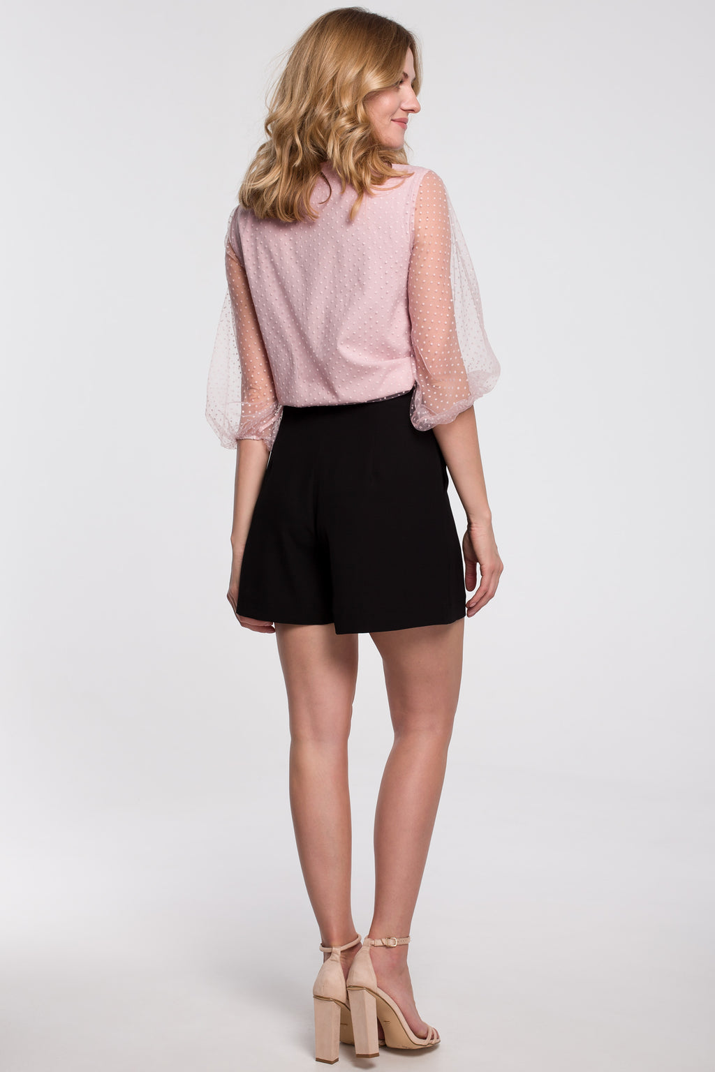 Black Relaxed Shorts With Front Pleats - So Chic Boutique