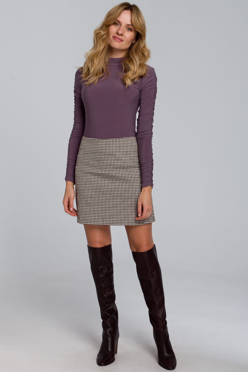 Purple Body With Gathered Sleeves - So Chic Boutique