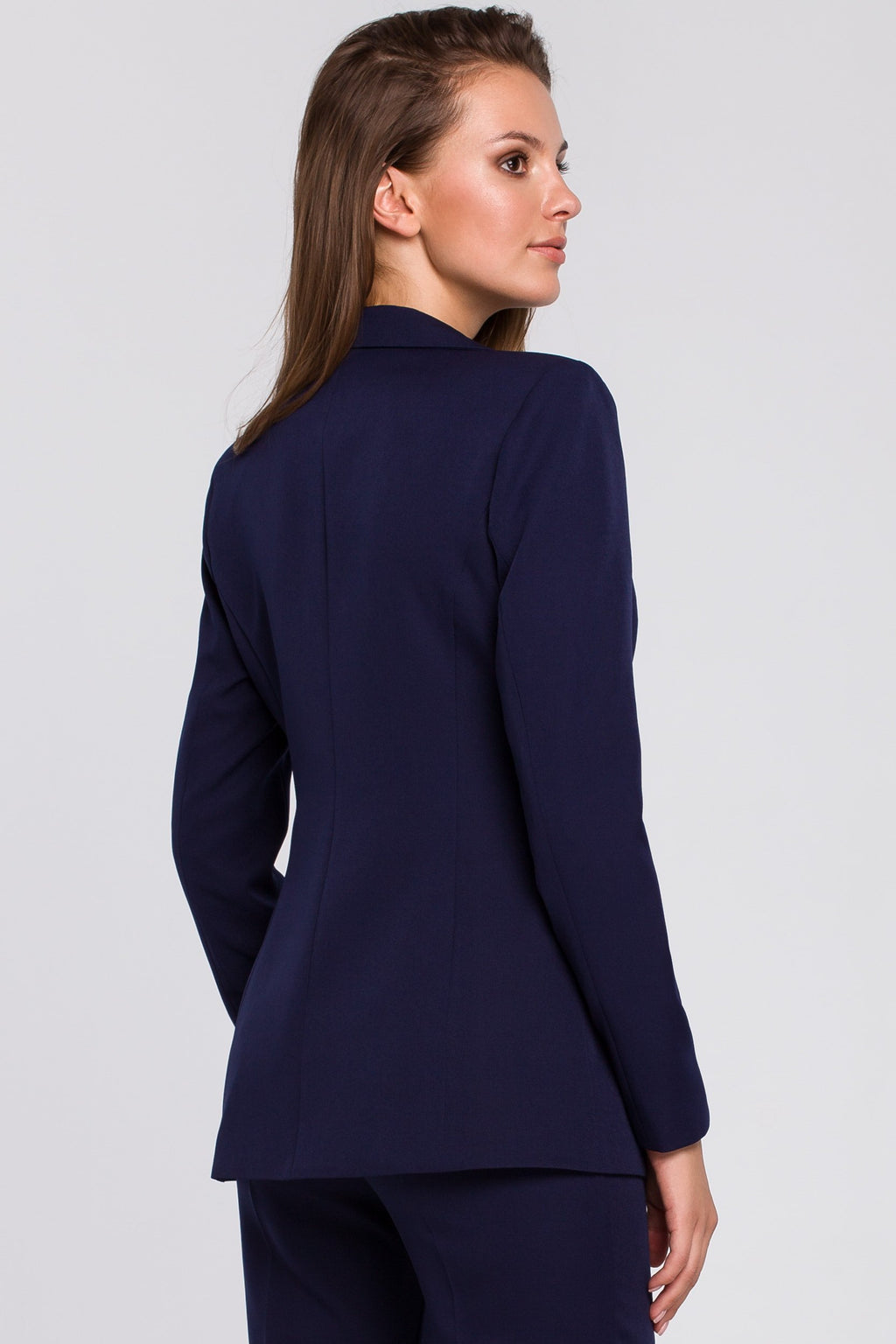 Single Button Navy Blue Blazer - So Chic Boutique