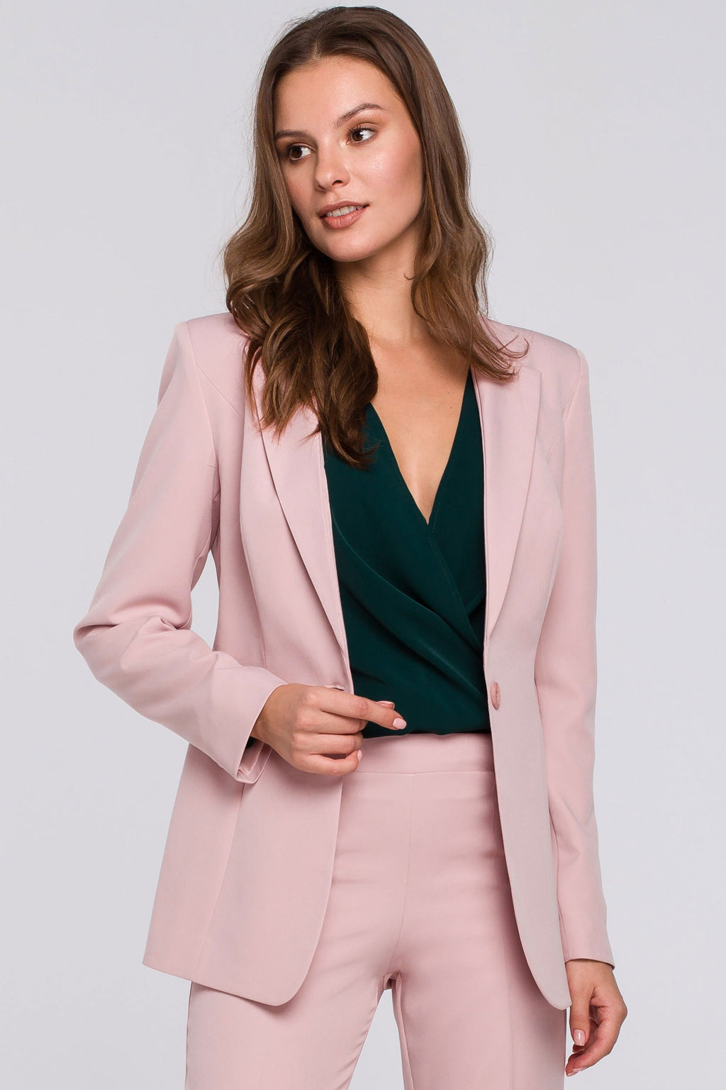 Single Button Powder Pink Blazer - So Chic Boutique