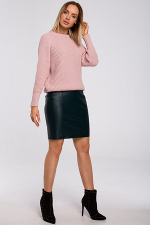 Classic Powder Pink Sweater - So Chic Boutique