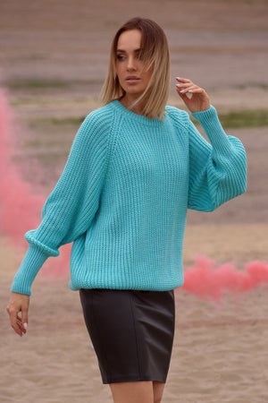 Classic Turquoise Sweater - So Chic Boutique