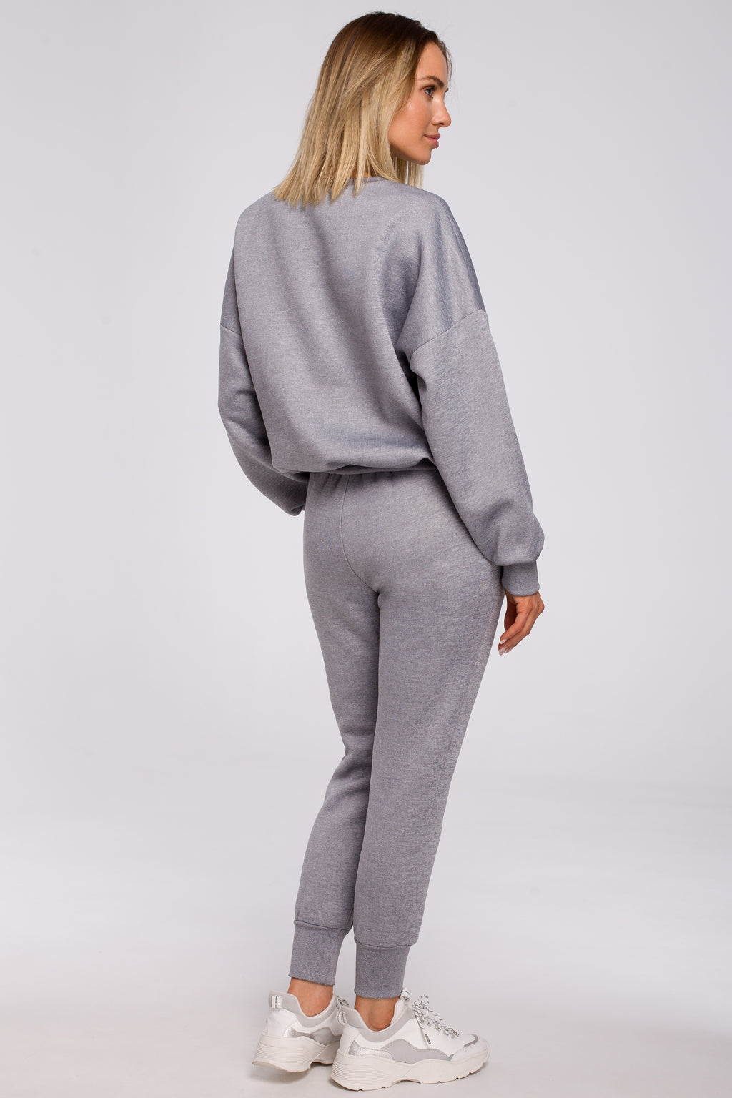 Grey Joggers With Elastic Waist - So Chic Boutique