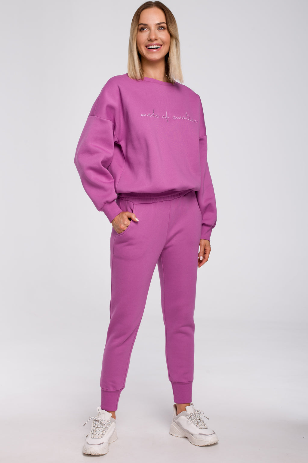 Lavender Joggers With Elastic Waist - So Chic Boutique