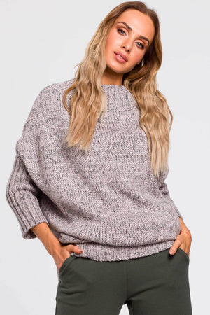 Grey Melange Batwing Sweater - So Chic Boutique