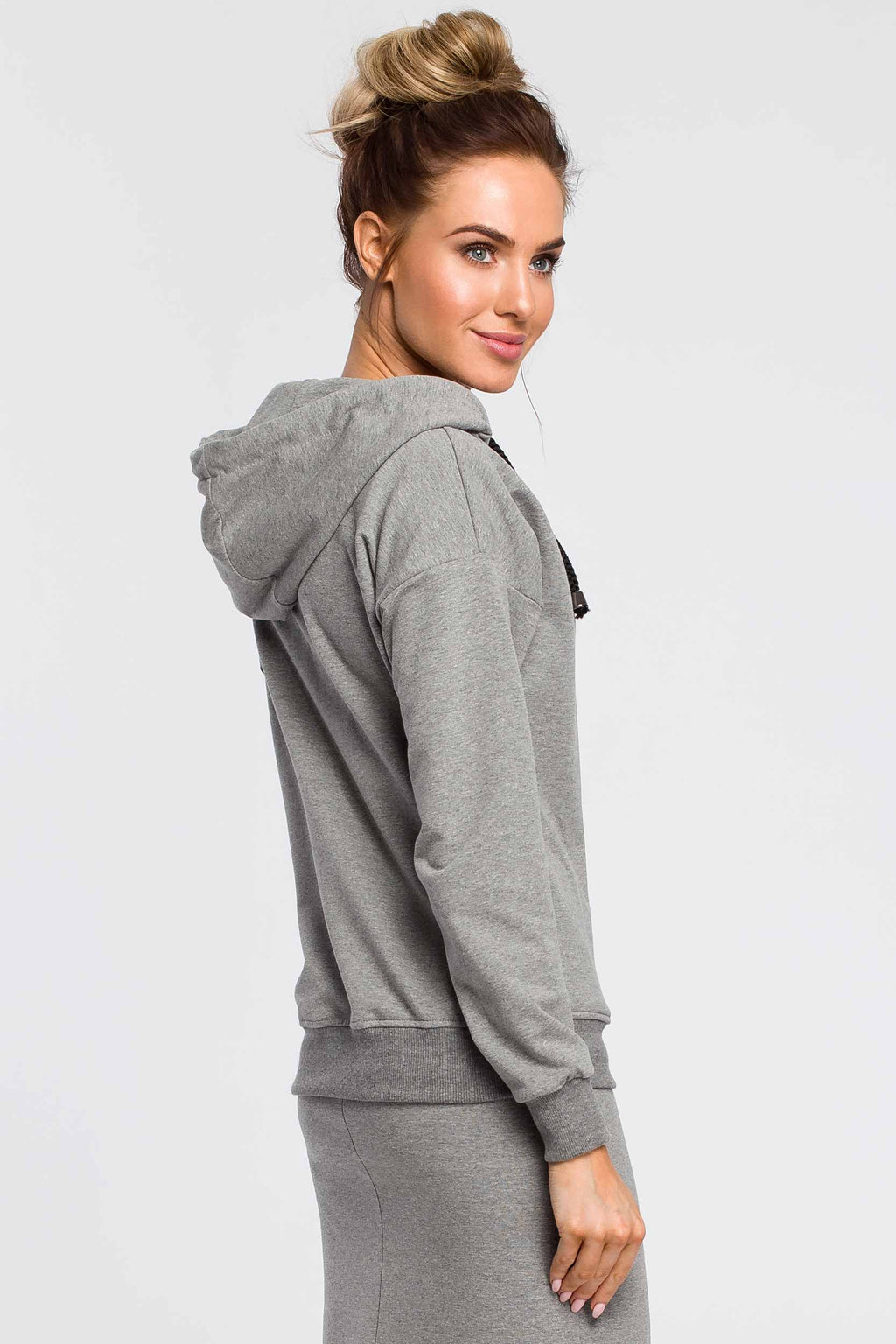 Grey Zip Up Hoodie - So Chic Boutique