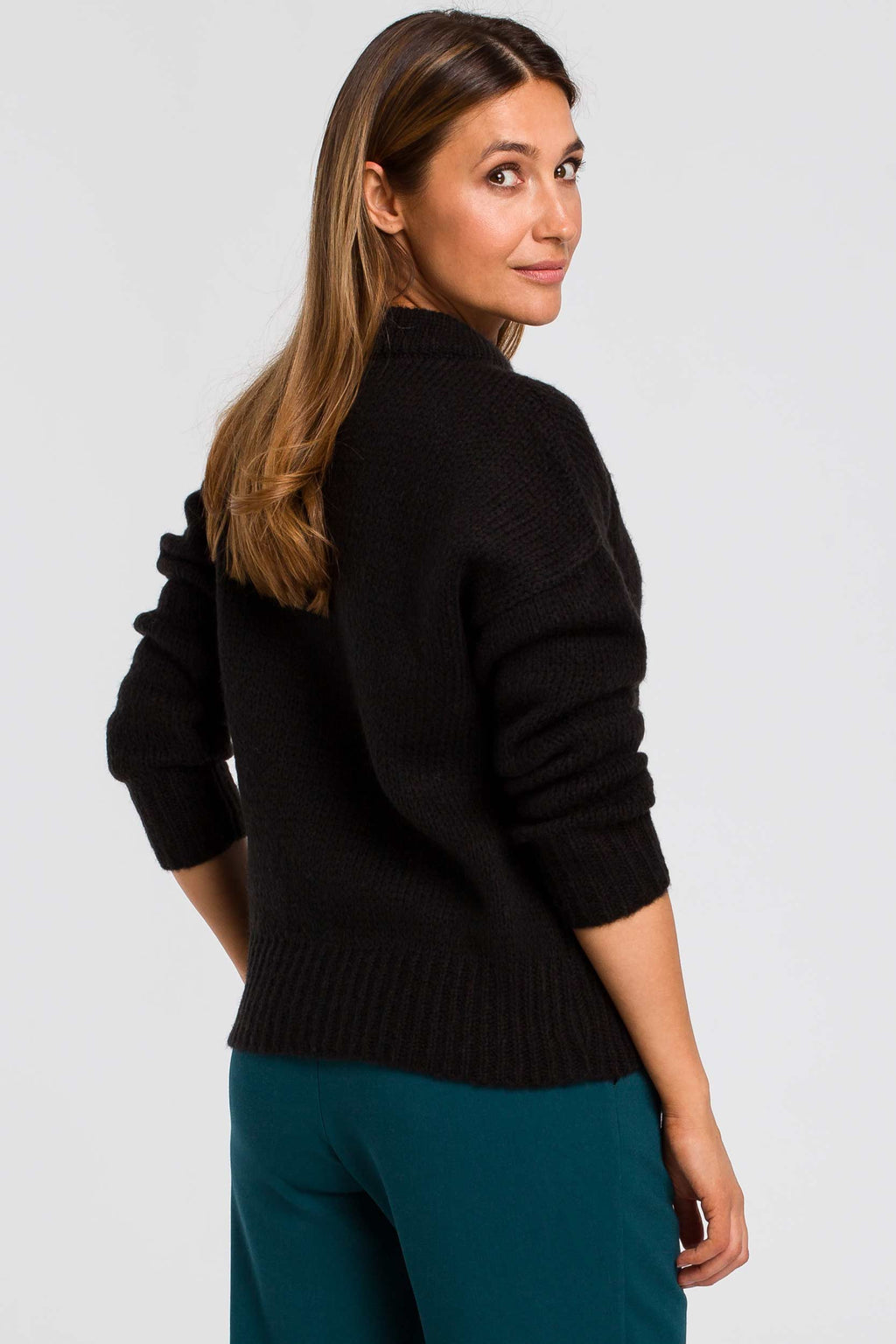 Black Lightweight Sweater - So Chic Boutique