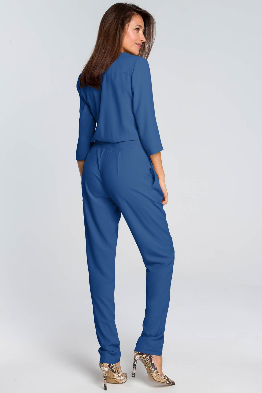 Blue Button Up Jumpsuit - So Chic Boutique