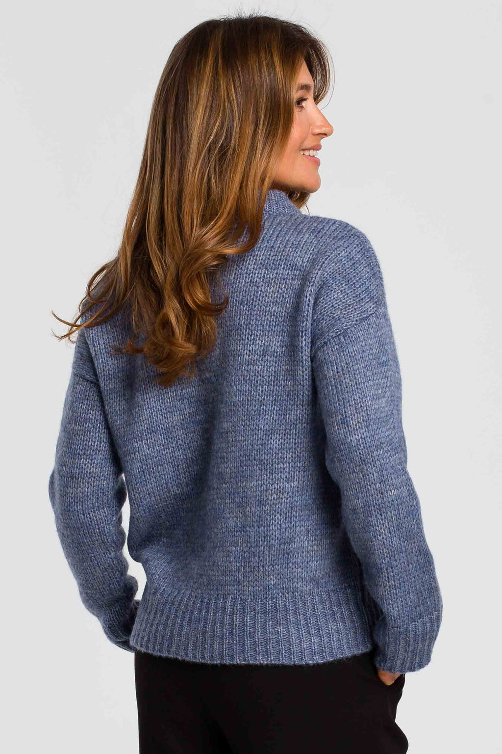 Blue Lightweight Sweater - So Chic Boutique