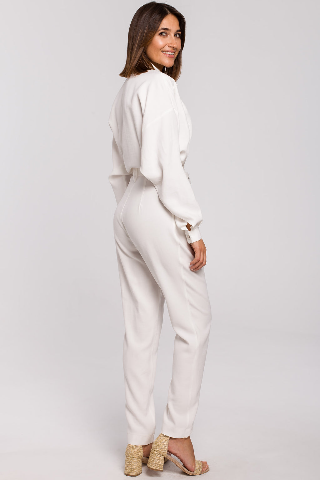 Ecru Utility Jumpsuit - So Chic Boutique