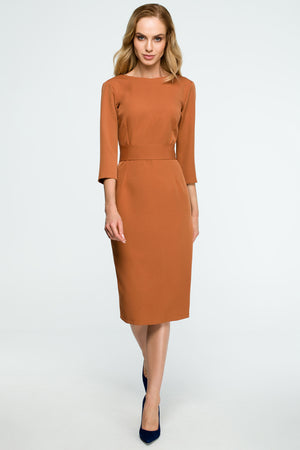 Ginger Midi Buttoned Down Dress - So Chic Boutique