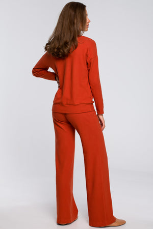Ginger Cotton Wide Leg Lounge Trousers - So Chic Boutique