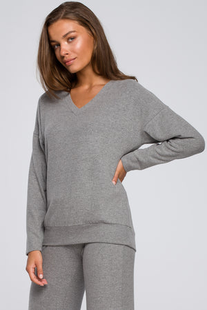 Grey Cotton Top - So Chic Boutique