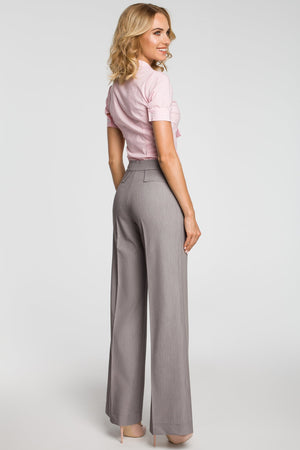 Wide Leg Trousers Grey - So Chic Boutique