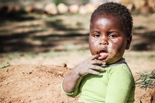 Who is affected by hunger in Africa?