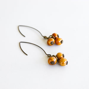 SwaziMUD™ Cluster Dangle Earrings - Khutsala™ Artisans