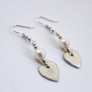 SwaziMud Heart Earrings