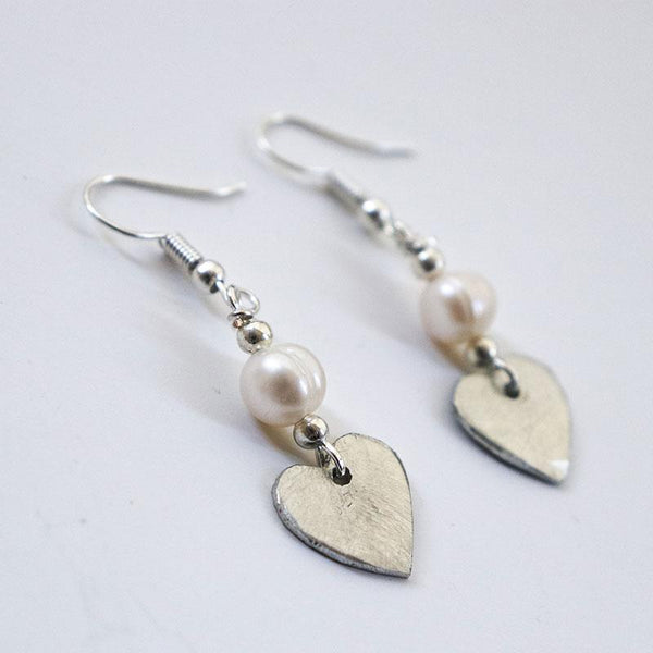SwaziMud Heart Earrings-4 Varieties