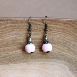 SwaziMUD Drop Bead Earrings