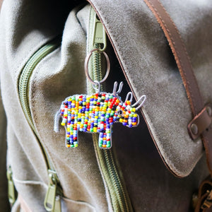 African Animal Keychains