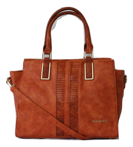 Blithe Two Strip Crocodile Large Shoulder Bag