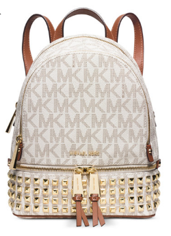 MICHAEL Michael Kors Rhea Zip Extra Small Studded Brown Backpack