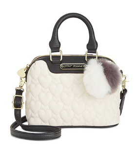 White Mini Quilted Dome Crossbody
