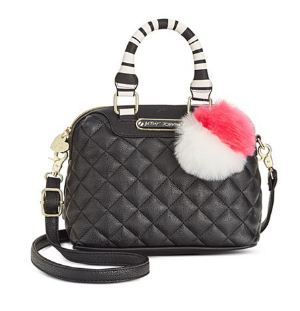 Black Mini Quilted Dome Crossbody