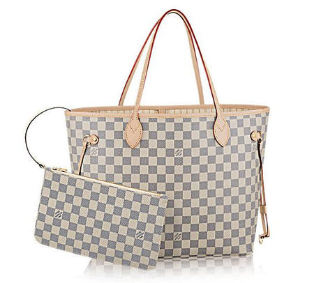 NeverFull MM  Damier Azur Canvas