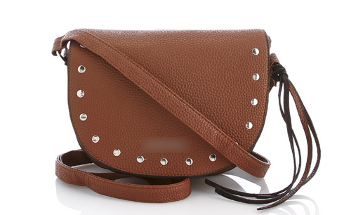 Studded Crossbody Saddle Bag