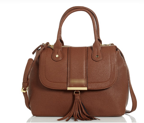 Textured Convertible Crossbody Satchel