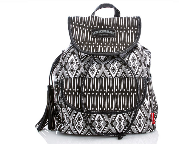 Aztec Print Canvas Backpack