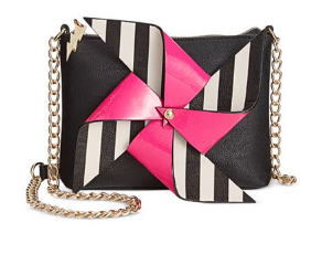 Black Pinwheel Crossbody