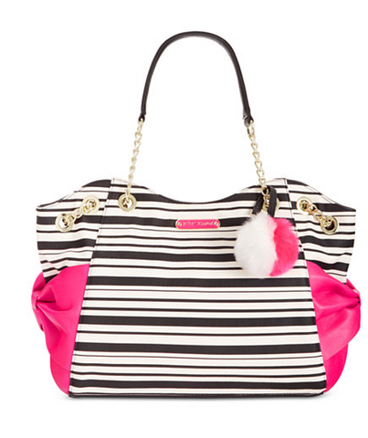 Betsey Johnson Stripe Bow Tote