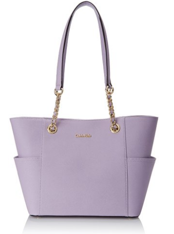 Saffiano Leather Blue Chain Tote