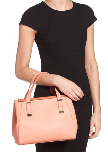 Carlie Faux Leather Satchel