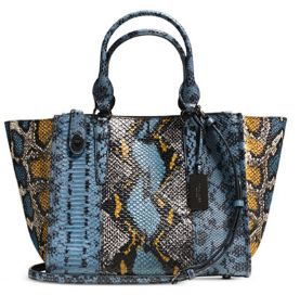 Snake-embossed leather Crosby CarryAll