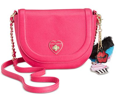 Fuschia Betsey Johnson Trolls Saddle Bag