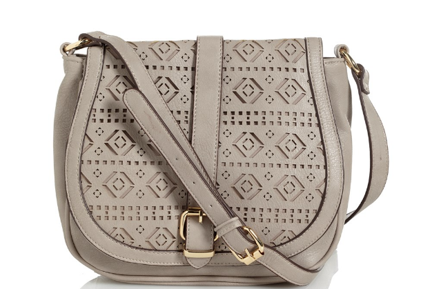 Cutout Crossbody Saddle Bag